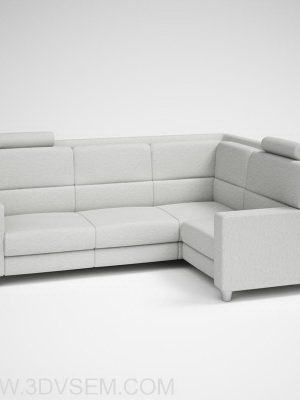 Highly Detailed Corner Sofa 3D Model