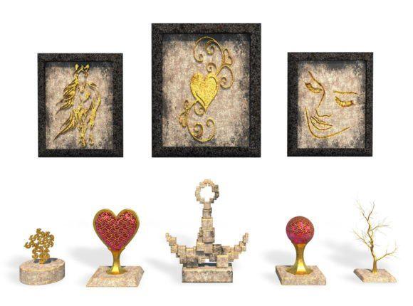 Historical Decorative Set 3D Model