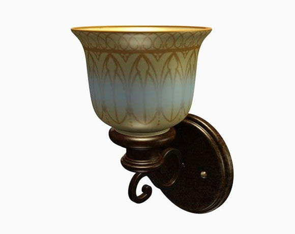 Historical Wall Sconce 3D Model