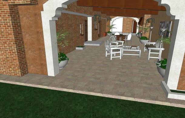 House Garden Grill Scene 3D Model