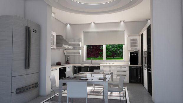 Interior Kitchen Scene 3D Model