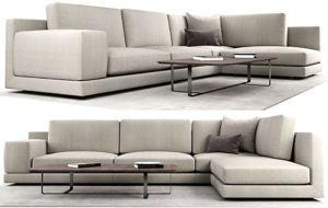 Italian Design Corner Sofa 3D Model