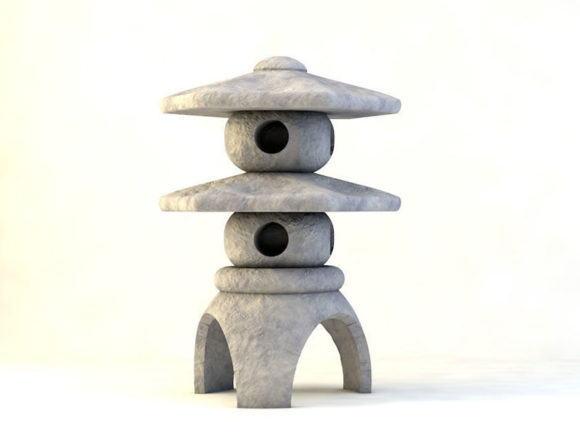Japanese Fountain 3D Model