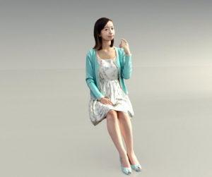 Japanese Woman 3D Model