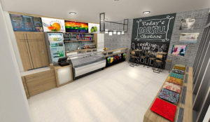 Juice Bars 3D Interior Scene
