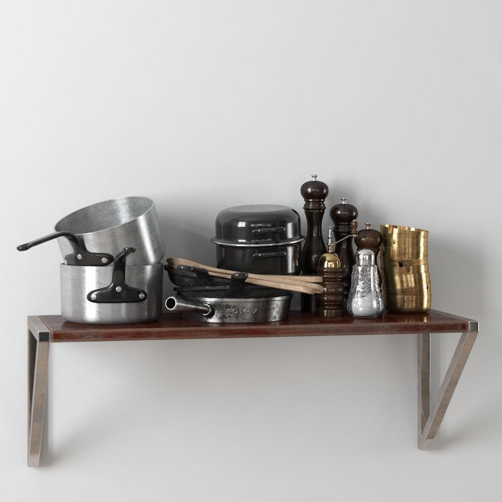 Kitchen Ware 3D Model