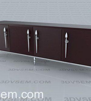 Lacquer Cabinet 3D Model