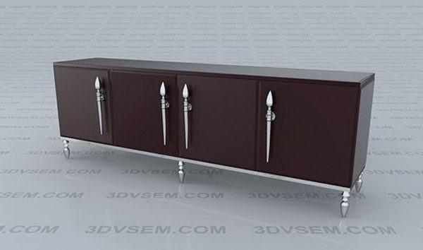 Lacquer Cabinet 3D Model - Free C4D Models