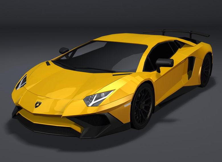 Lamborghini Aventador Lp 750 3D Model - Free C4D Models