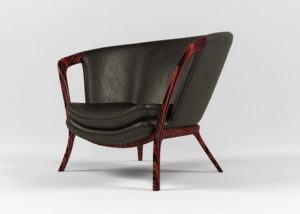 Luxury Leather Armchair 3D Model