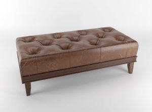 Leather Chesterfield Bench 3D Model