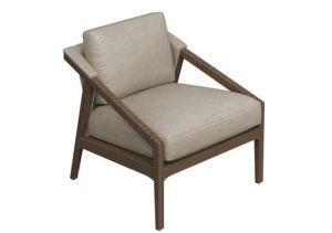 Leather Decorative Armchair 3D Model