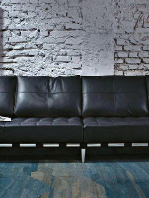 Leather Material Sofa 3D Model