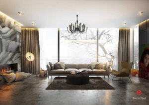 Living Room 3D Full Scene