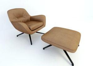 Lounge Armchair Free 3D Model