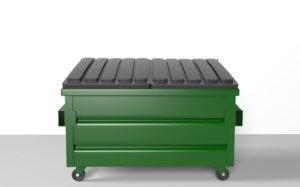 Low Poly Dumpster 3D Model