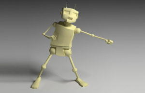 Low Poly Robot 3D Model