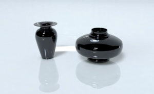 Low poly Decoration 2 Vases 3D Model