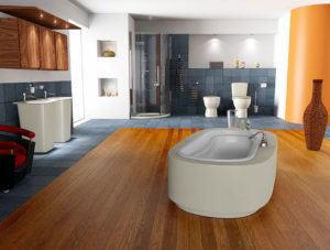 Luxury Bathroom Design 3D Interior Scene