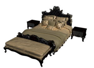 Luxury Bed Set 3D Model