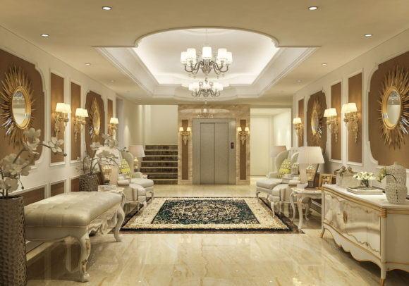 Luxury Classic Entrance Hall 3D Model