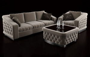 Luxury Sofa Set 3D Model