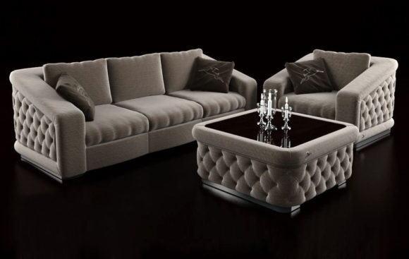 Luxury Sofa Set 3D Model