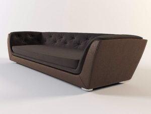 Luxury Velvet Sofa 3D Model
