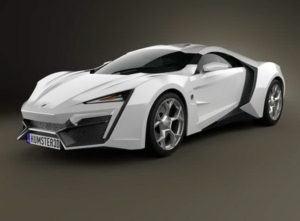 Lykan HyperSport Car 3D Model