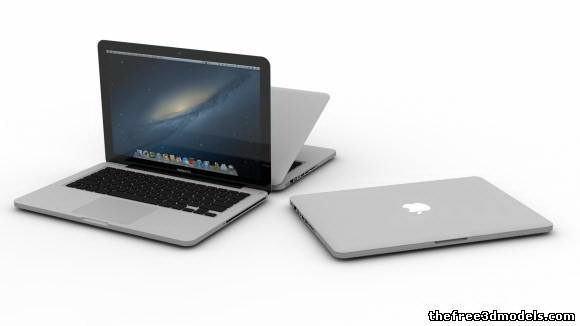 Macbook Pro 13 3D Model