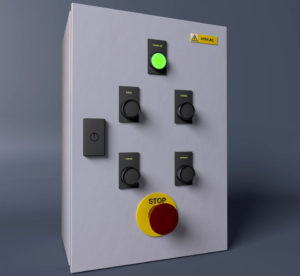 Machine Control Panel 3D Model