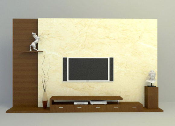 Marble 3D Tv and Wall Panel