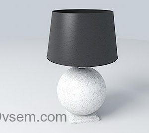 Marble Table Light 3D Model