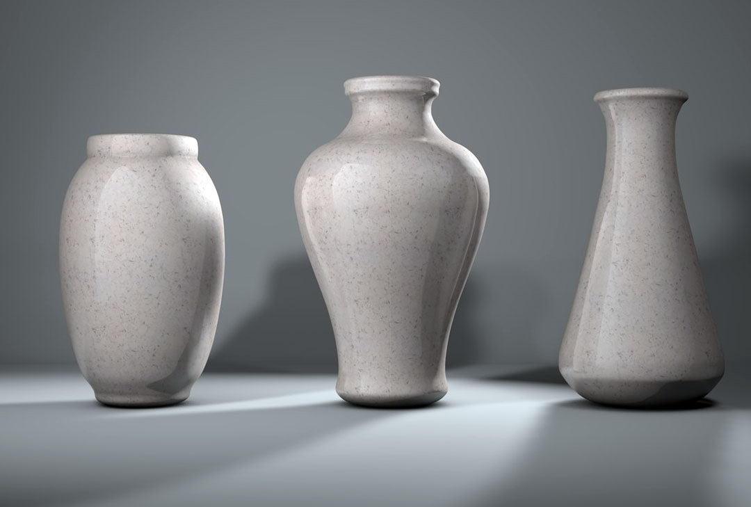 Marble Vases 3D Model