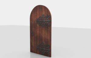 Medieval Wood Door 3D Model