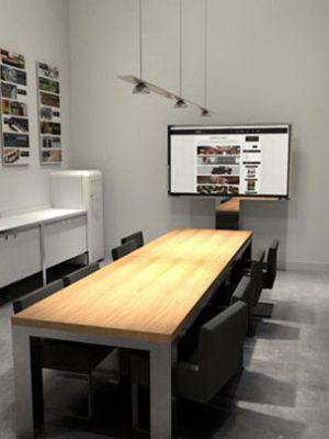 Meeting Room Interior Scene for Cinema 4D