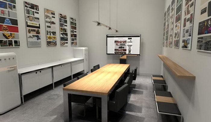 Meeting Room Interior Scene for Cinema 4D