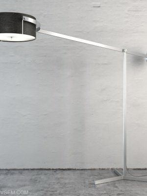 Metal Body Floor Lamp 3D Model