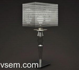Metal Chain Table Lamp 3D Model