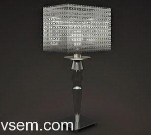 Metal Chain Table Lamp 3D Model