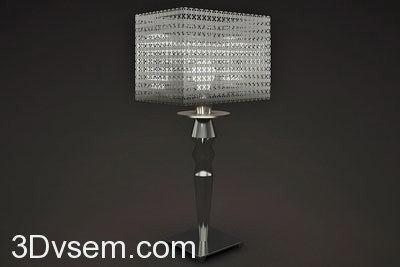 Metal Chain Table Lamp 3D Model - C4D Download
