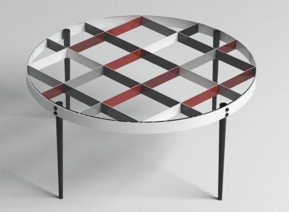 Metal Decorative Coffee Table 3D Model