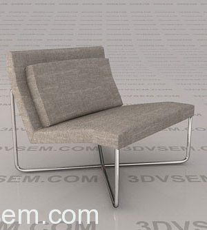 Metal Frame Armchair 3D Model