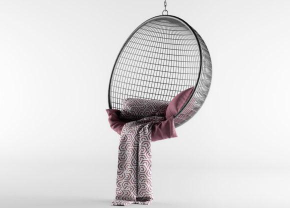 Metal Swing Chair 3d Model