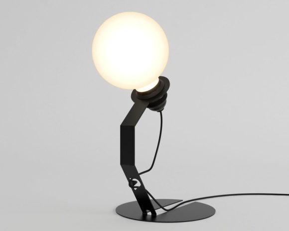 Metal Table Light 3D Model