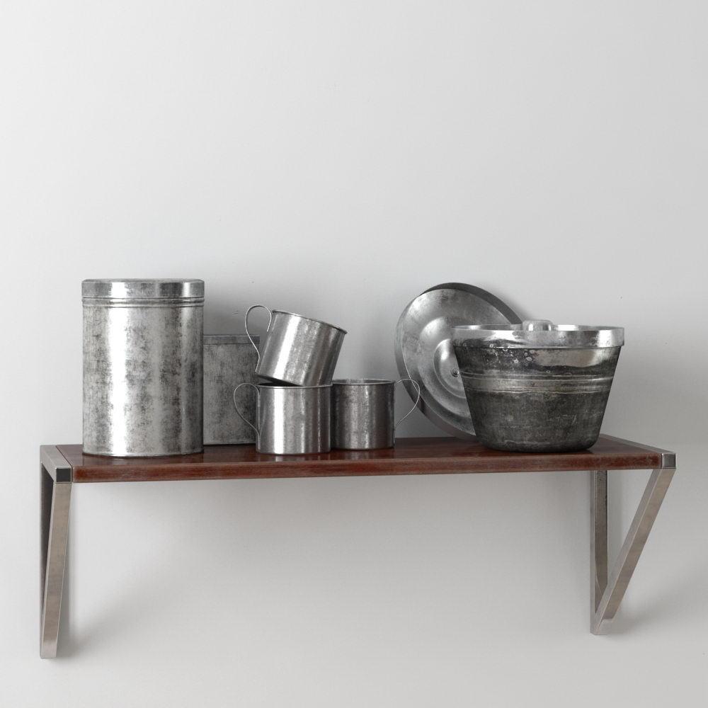 Metal Utensils 3D Model