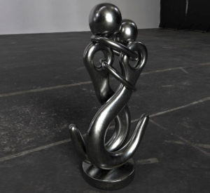 Metal Woman and Man sculpture 3D Model