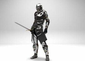 Metallic Knight Free 3D Model