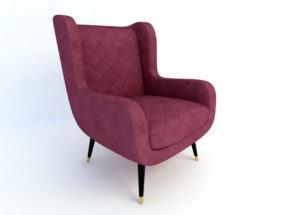 Mid-Century Modern Armchair 3D Model