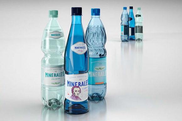 Mineral Water Bottles 3D Model